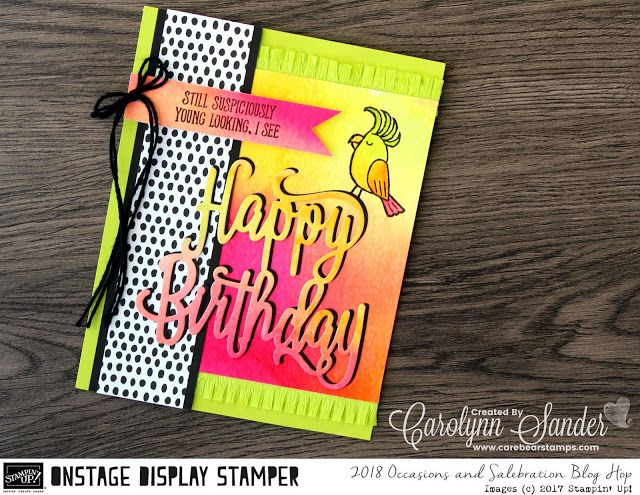 Care Bear Stamps: Stampin ' Up! 2018 Occasions & Sale-A-Bration Display Stamper Blog Hop ~ Day One