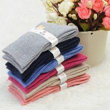 Alta qualidade crianças grossas de inverno quente meias de lã térmica para o bebê meninas meias de algodão da marca garoto retro meias de moda 5 pares/lote(China (Mainland))