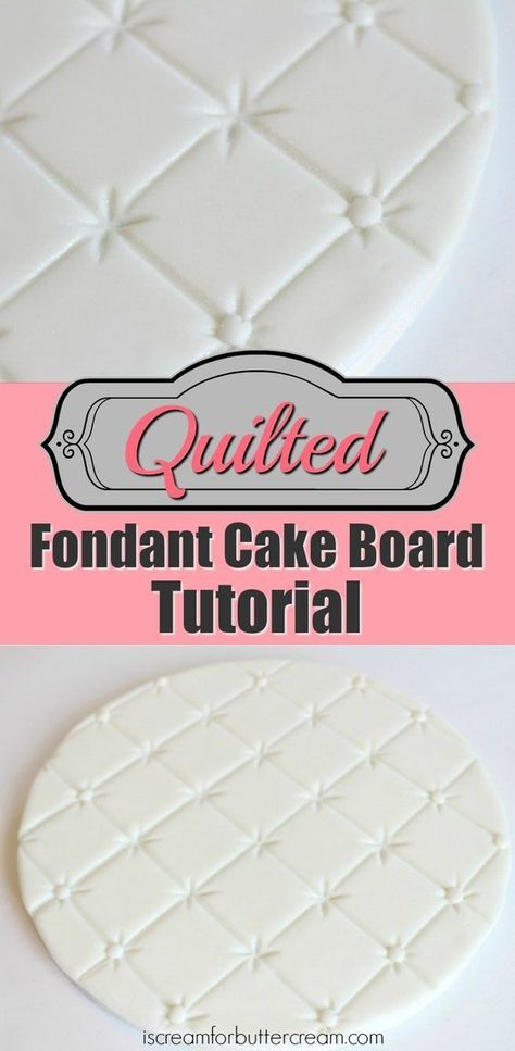 Lots of tips for covering cake boards including this Quilted Fondant Cake Board Tutorial.