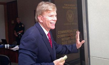 David Duke Continues Bromance With Donald Trump In a robocall, the former KKK grand wizard said he and Trump come as a pair in the 2016 elections.