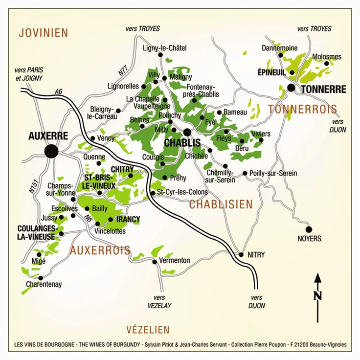 Wine : Irancy is part of the vineyards of the Yonne and specifically that of Auxerre