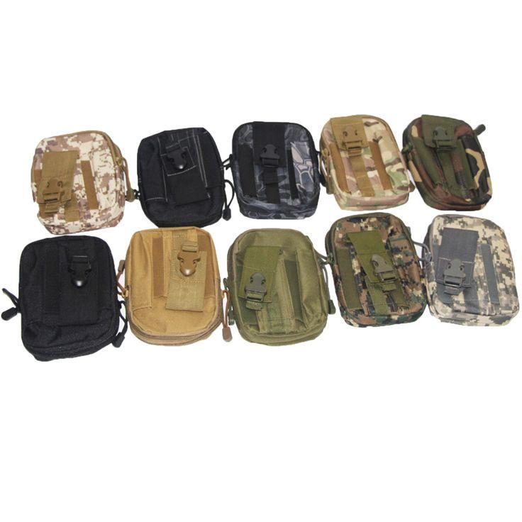 New Outdoor Tactical Phone Pouch Hunting Airsoft Molle Hip Waist Belt Clip Bag Wallet EDC Gadget Pouch Tool Dump Drop Bag Holder.