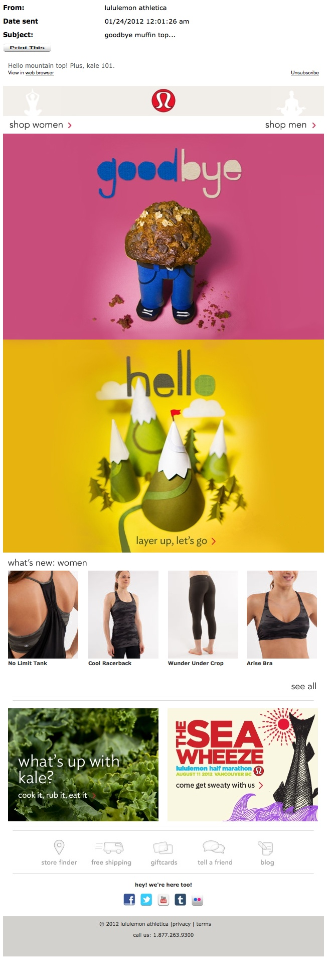 Lululemon email from 01_24_12