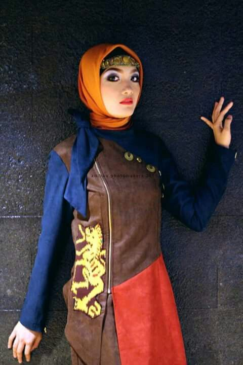 Etnic style for evening party but you can use for nigth party too. With hijab also