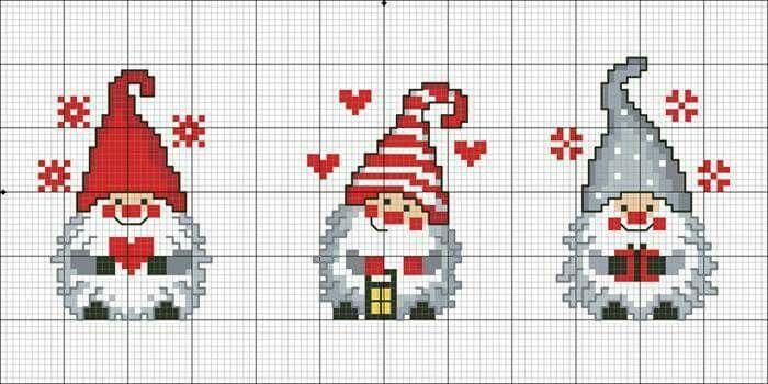Christmas scandinavian Gnomes Leuk patroontje voor kerstsokken