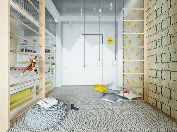 Modern colourful kid room on Behance