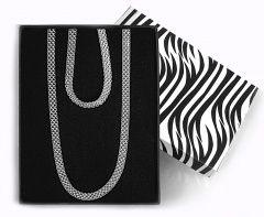 Souprava atypického výrazného stříbrného náhrdelníku a náramku