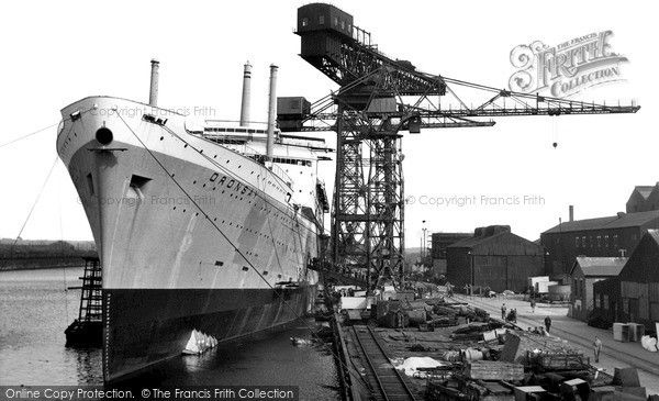 Barrow-In-Furness, the Shipyards c1960
