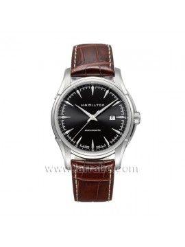 Reloj Hamilton con correa de piel marrón y diseño elegante.  Joyería Larrabe: www.larrabe.com #Reloj #hamilton #relojhamilton #hombre #caballero