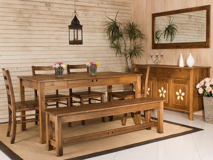 Mesa de Jantar Flor do Campo - Pinhão - R$899,00