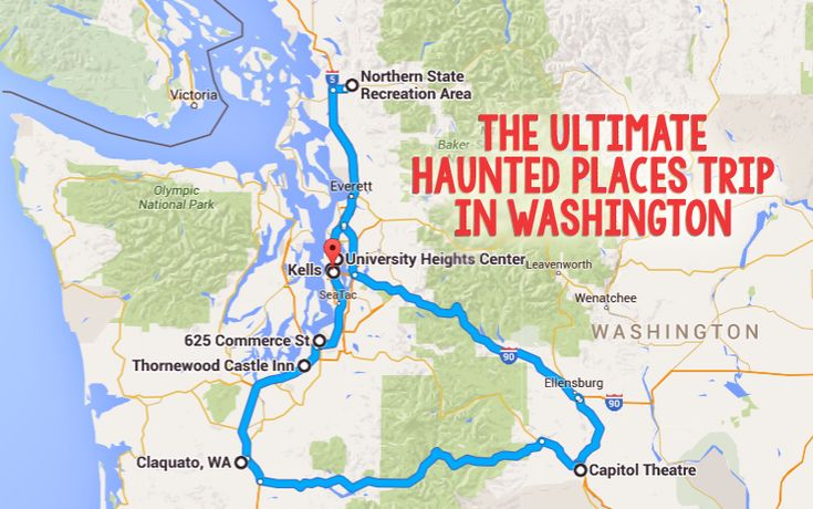 This day trip will take you to some of the creepiest places in Western Washington!