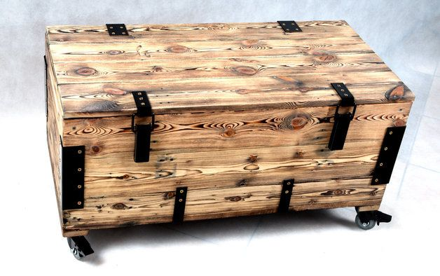 Natural wooden case made from old amunition boxes