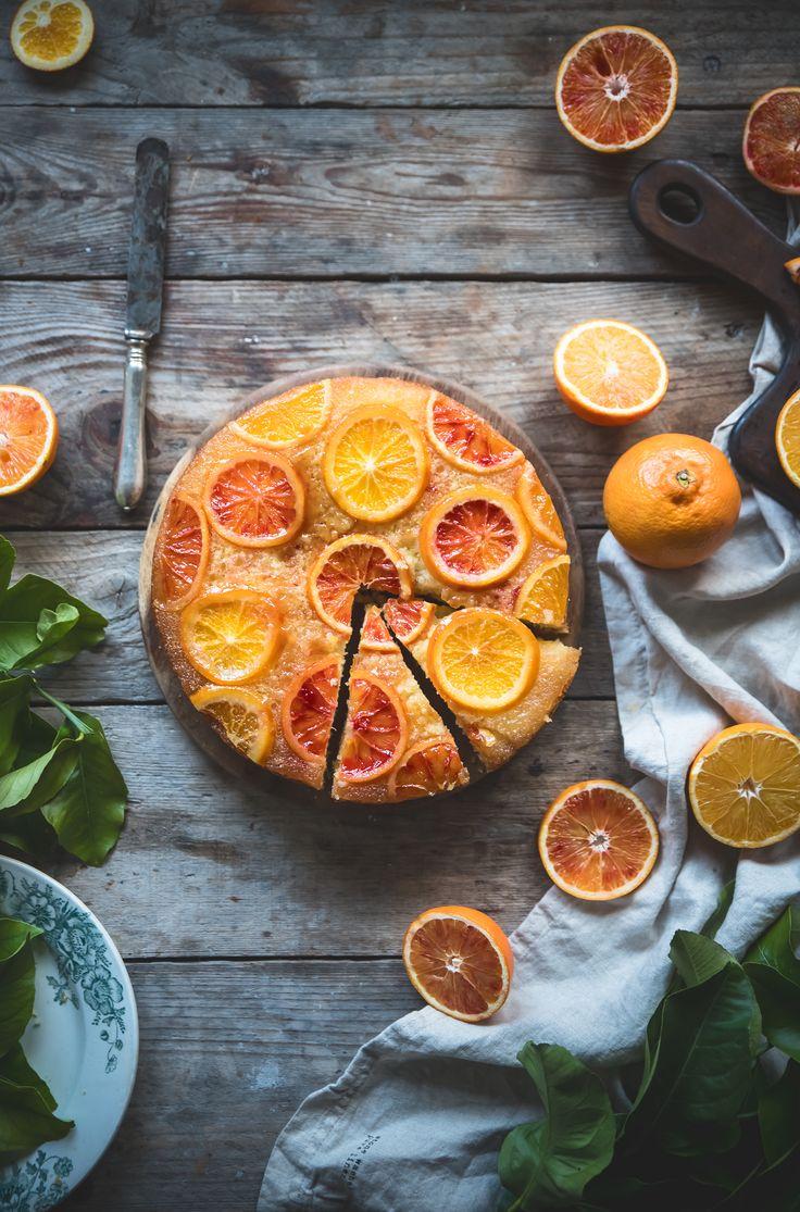 Torta rovesciata all'arancia- Upside down orange cake - Frames of sugar-Fotogrammi di zucchero
