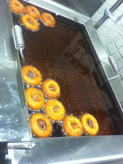 Frying doughnuts. Feb.2016