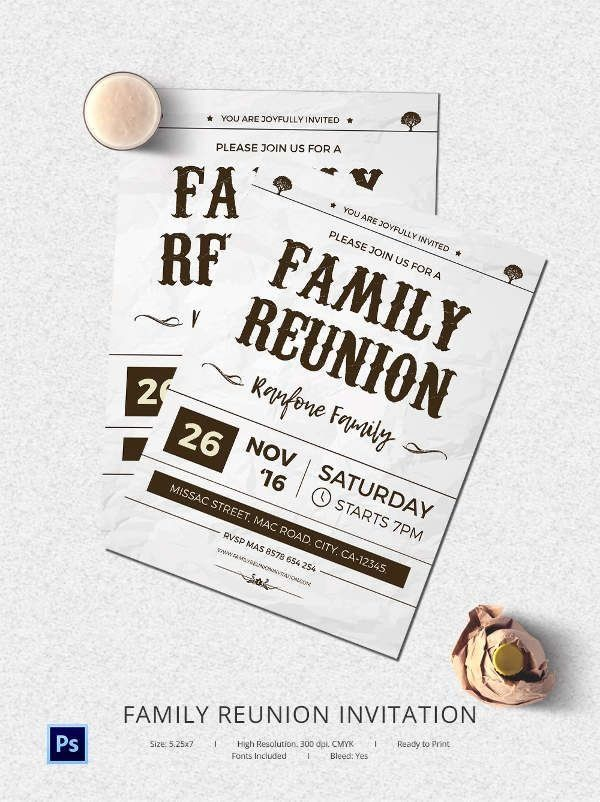 Free Family Reunion Invitation Templates Fresh 17 Best Ideas About