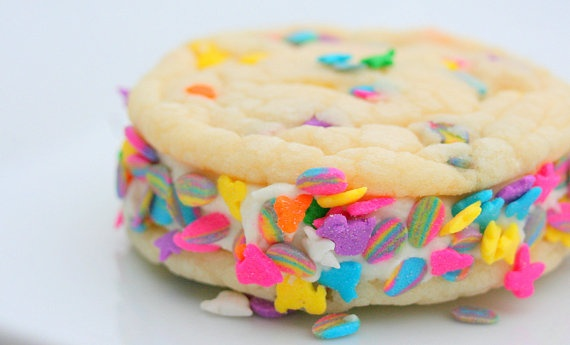easter confetti cookie sandwich