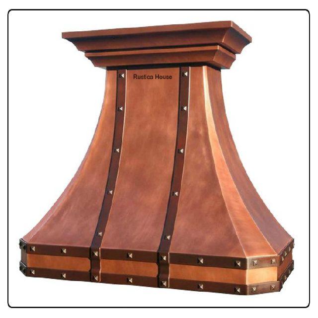 rustica house custom copper range hood myrustica - Copper Range Hoods