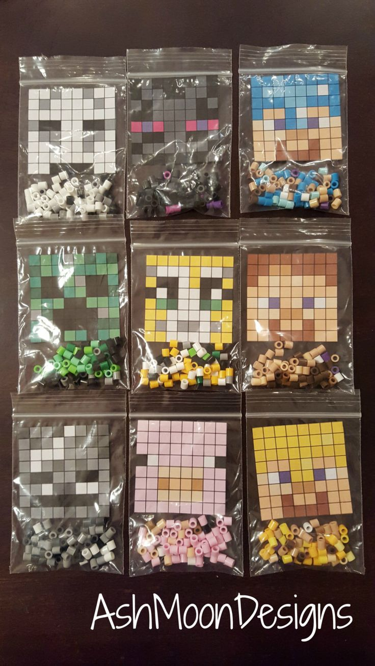 Minecraft Perler Bead DIY Kits by AshMoonDesigns on Etsy https://www.etsy.com/listing/254794426/minecraft-perler-bead-diy-kits