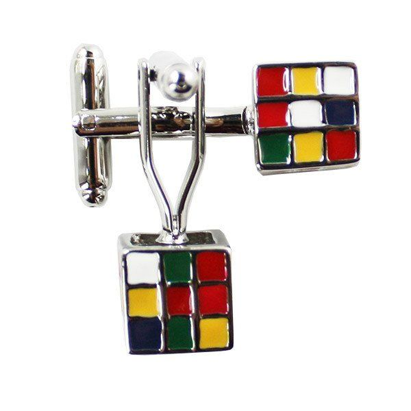 Puzzle Cube Cufflinks | Know a male teacher that's fun, entertaining...but hard to buy for? We have the perfect gift idea: this set of stainless steel, puzzle cube cuff links. Remember the Rubik's Cube? This throwback retro fashion is an awesome gift for guys! Cufflinks come in a jewelry gift box.