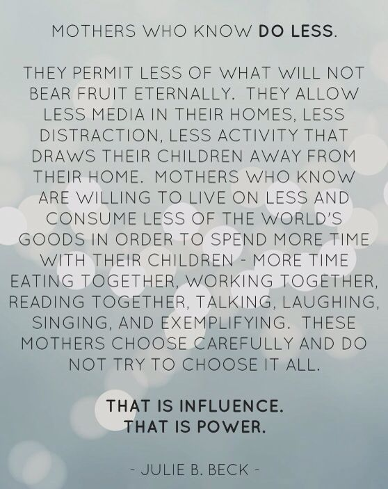 """From one of my favorite talks, I've read it many times over the years and it never fails to inspire. """"Mothers who know..."""""""