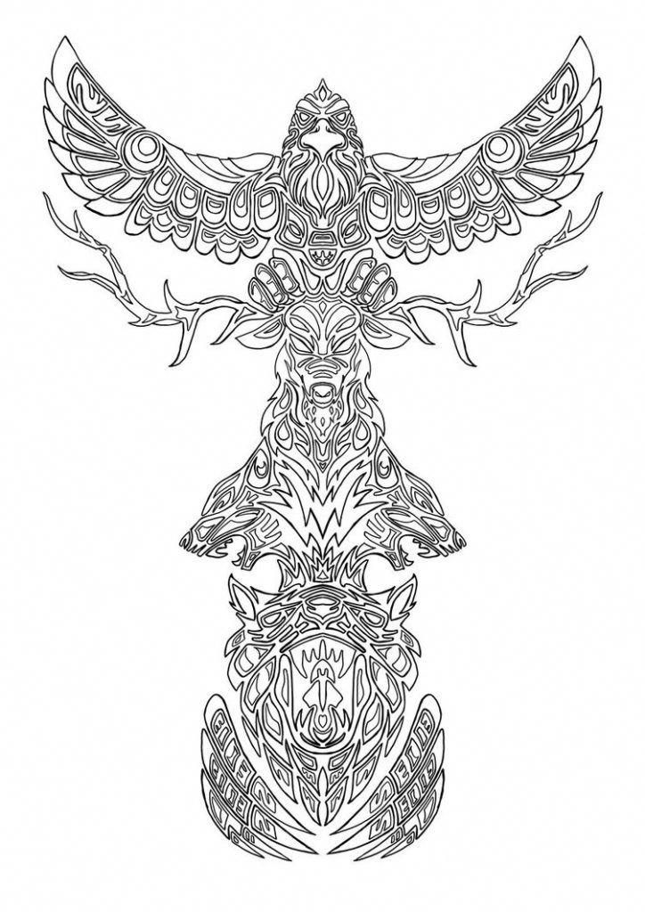 Coloring Pages Of Totem Pole Marquesantattoos Totem Tattoo Totem Pole Tattoo Totem Pole
