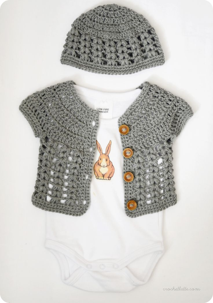 Baby Koenig will look so adorable in this. Someone PLEASE make this for me!!!!! Croche cardigan and hat pattern:)