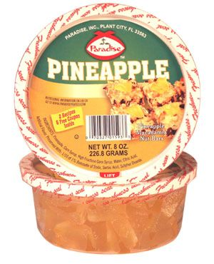 Paradise Candied Pineapple, a classic ingredient in holiday fruitcake or Pineapple Upsidedown cake, can also add to alomst every other of your favorite dessert recipes.