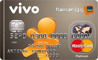 Solicitar Cartão de Crédito VIVO Itaucard 2.0 Platinum MasterCard Pré