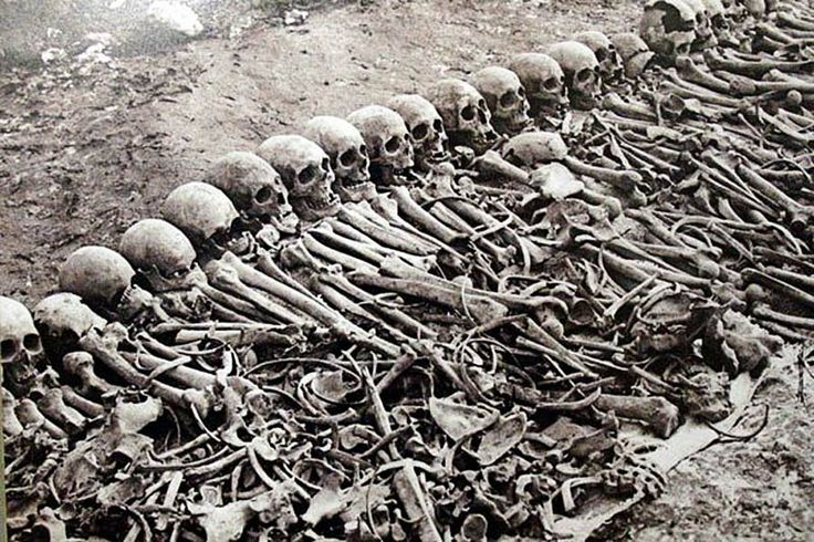 At first glance, one would think this was a photo of the Holicost.  Think again. It's of the Armenian Genocide - Armenocide from WWI.