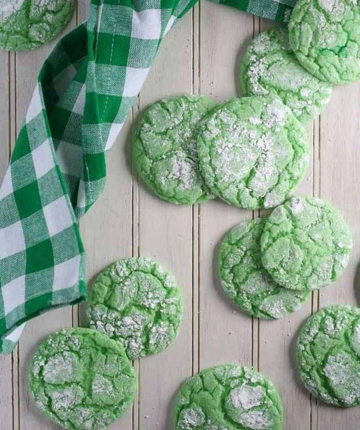 Cookies craquelés à la menthe