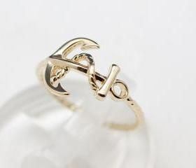 Cute And Simple Anchor Ring