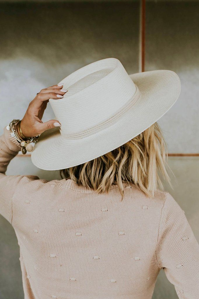 Straw Hat In Ivory Roolee Women Hats Fashion Outfits With Hats Hat Fashion