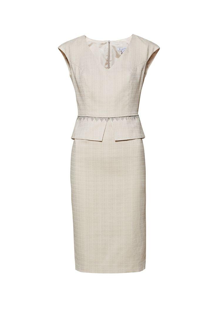 Sukienka z baskinką ARYTON wiosna-lato 2014