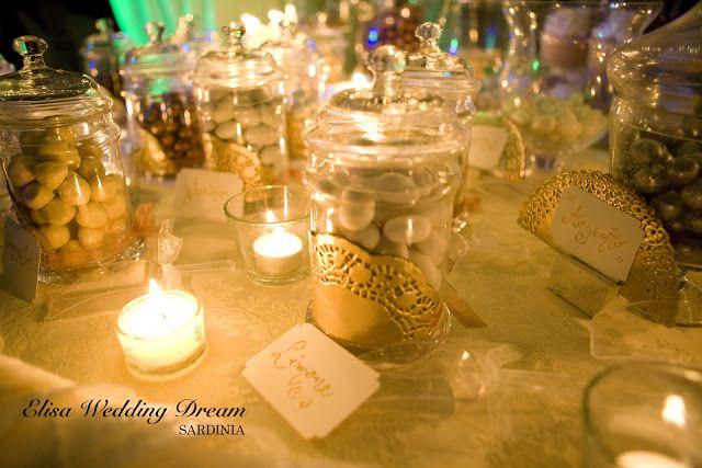 Candy Buffet| Confettata http://elisaweddingdream.blogspot.it/2012/12/real-wedding-sonia-e-pierpaolo.html