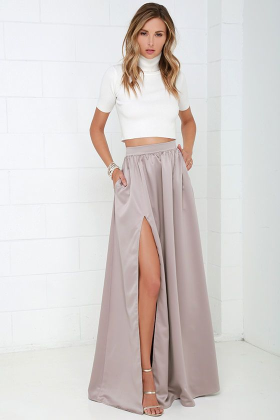25  best ideas about Maxi skirt with slit on Pinterest | Long ...