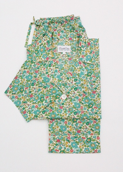 Liberty of London Cotton Pajamas, vintage looking in beautiful colors..