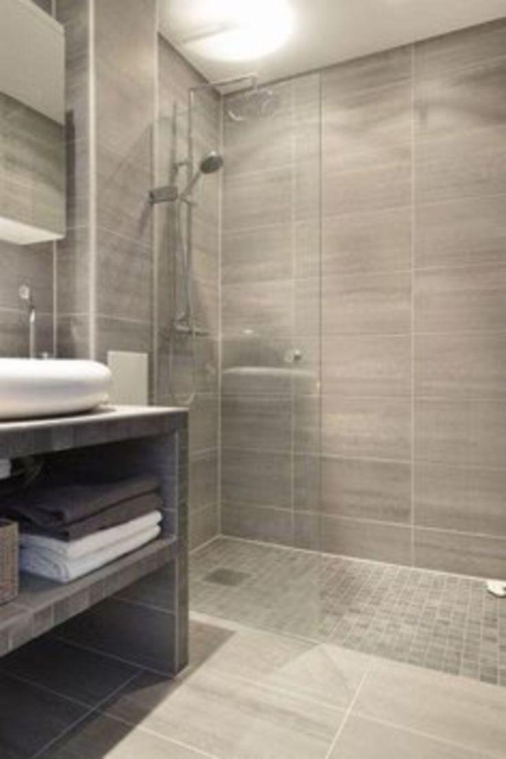 Perfect 122 Modern Small Bathroom Tile Ideas