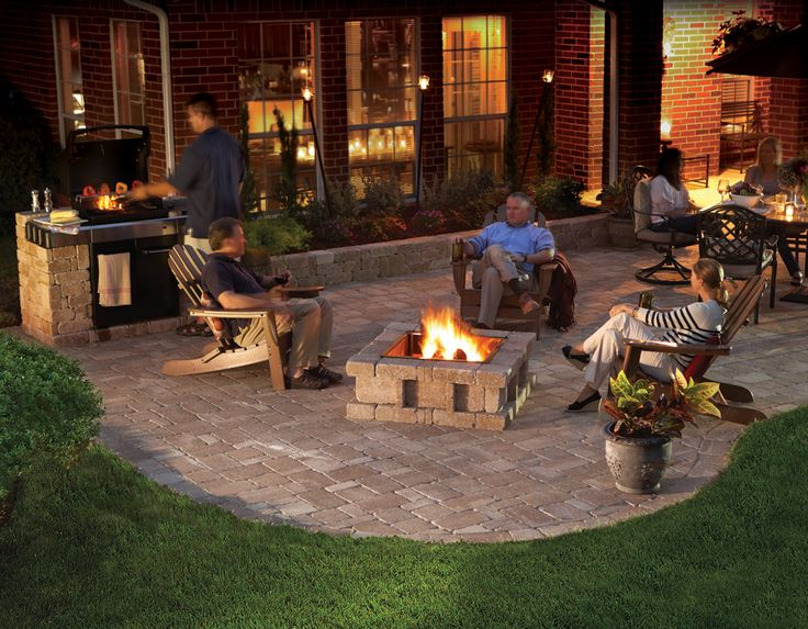 Pavestone Rumblestone™ Fire Pit, Patio, And Grill #diy | Imagine. Stack.  Create. | Pinterest | Fire Pit Patio, Patios And Backyard