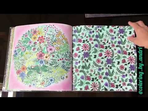 Secret Garden Coloring Book Completed