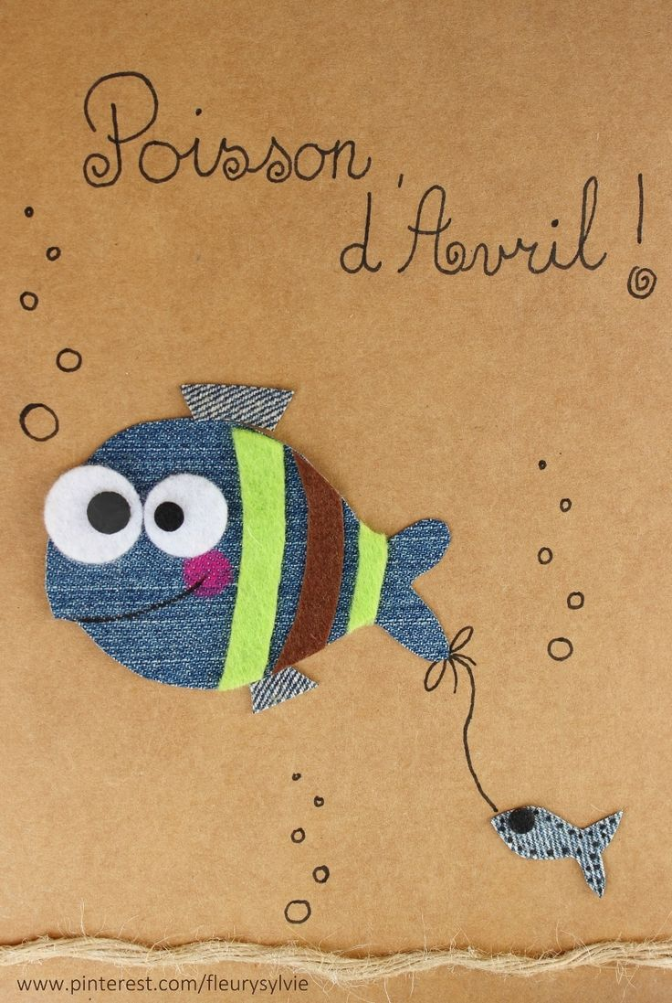 Poisson d'Avril !! #jeans #recycle Recyclage des pantalons https://pinterest.com/fleurysylvie/mes-creas-la-collec/
