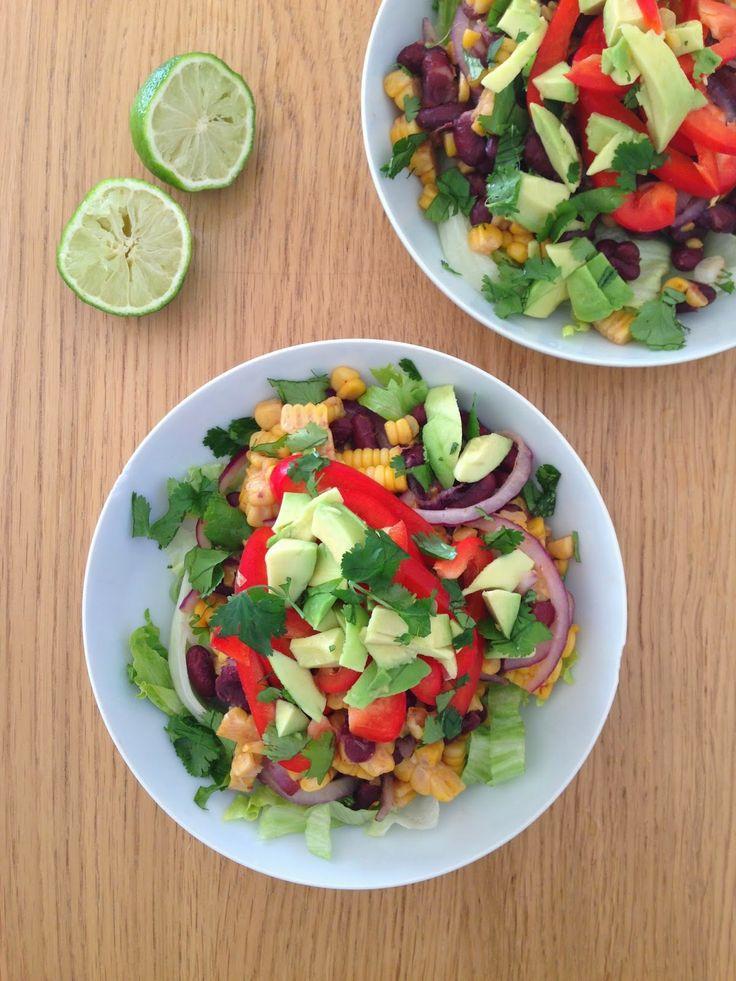 Gunns momsemat: Mexikansk salat med bønner og mais