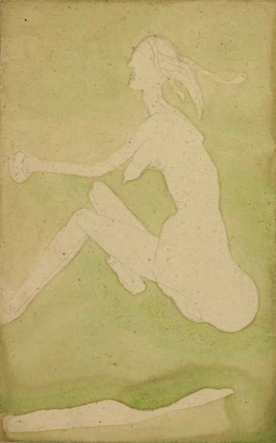Joseph Beuys. White Woman in the Grass (Fairy) 1954