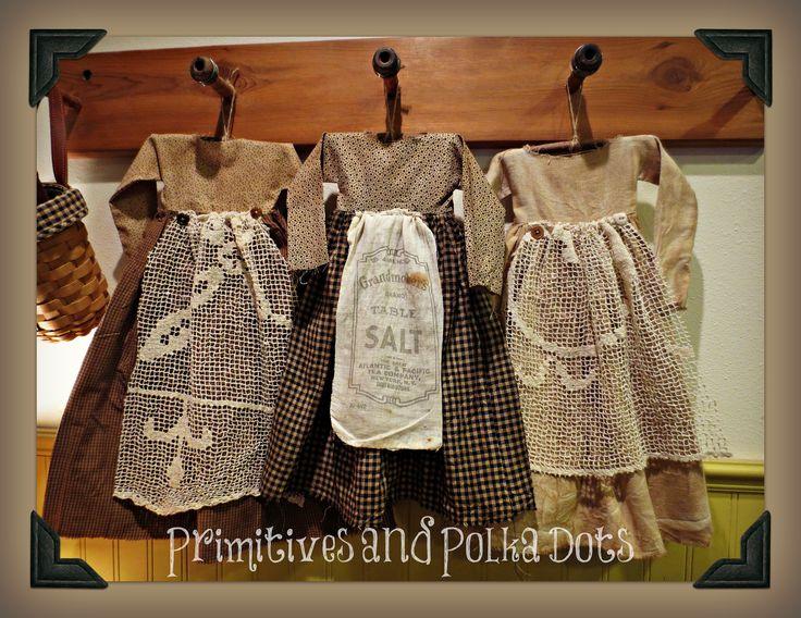 Primitive Dolls and Primitive Dresses | Primitives and Polka Dots