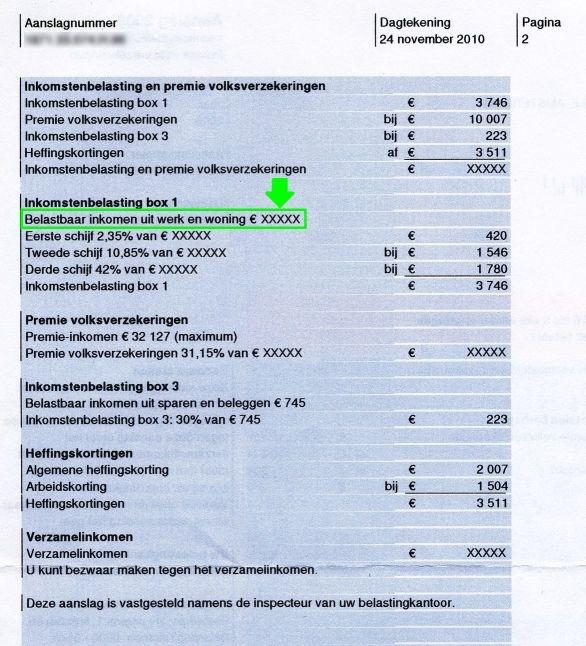 Wisselendinkomen.nl | Middeling berekenen