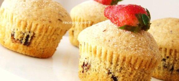 Muffiny s horkou cokoladou