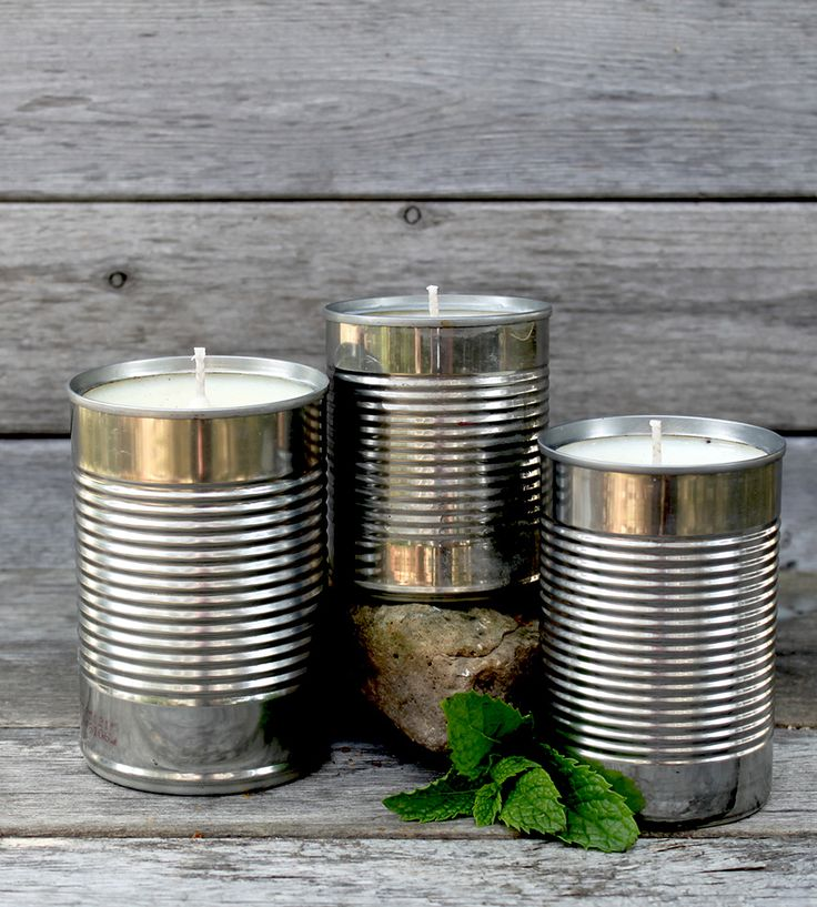 Small Scented Soy Tin Candles – Set of 3