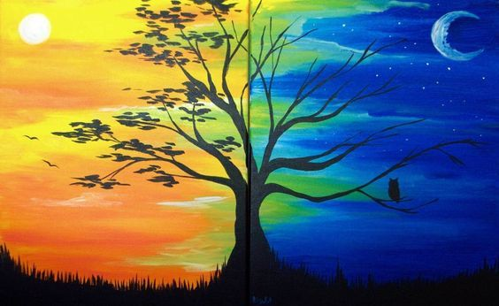 Onderwijs en zo voort ........: 3775. Koude en warme kleuren : Dag en nacht