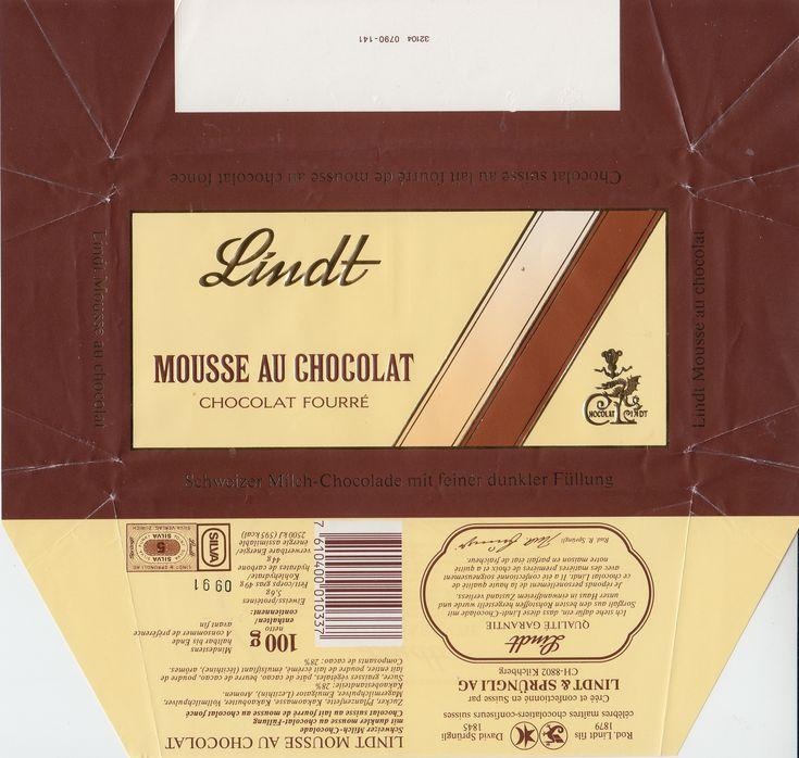Mousse au chocolat  Milchschokolade mit dunkler Füllung 1991