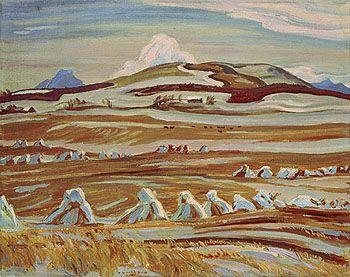 A.Y. Jackson (1882-1974), Canadian / October, Twin Butte, Alberta, 1951 /