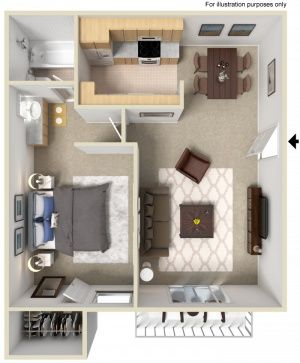 Studios, One Bedroom and Two Bedroom Apartments with patio or balconies, pool, spa, air conditioning and much more.